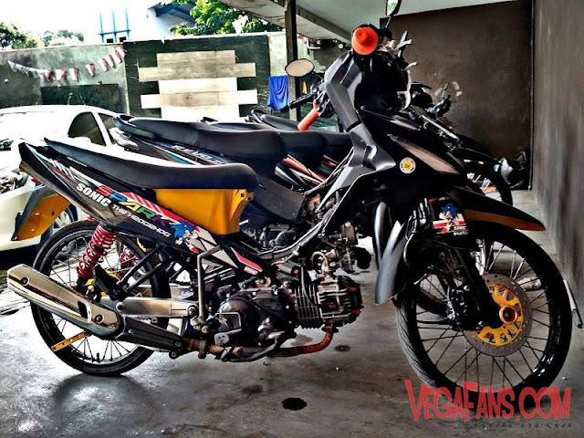 Vega RR Hitam Modif Simple Minimalis
