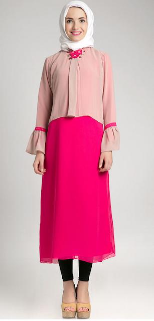 Model Baju Long Dress Muslim Terbaru