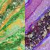 Ζωγραφική με dirty pouring και υγρό γυαλί - Dirty pouring acrylic art