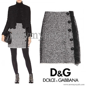 Kate Middleton wore DOLCE & GABBANA Bouclé Skirt