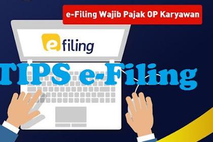 Tips e-Filing Wajib Pajak Orang Pribadi Karyawan