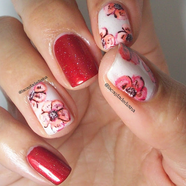 WaterColorFlowers-Nailart