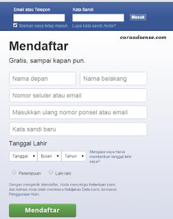 Cara Membuat Akun Facebook Hanya 3 Menit