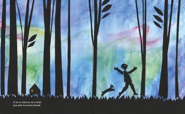 ilustración del cuento El Canto Errante poema de Rubén Darío ilustrado por Eleonora Arroyo