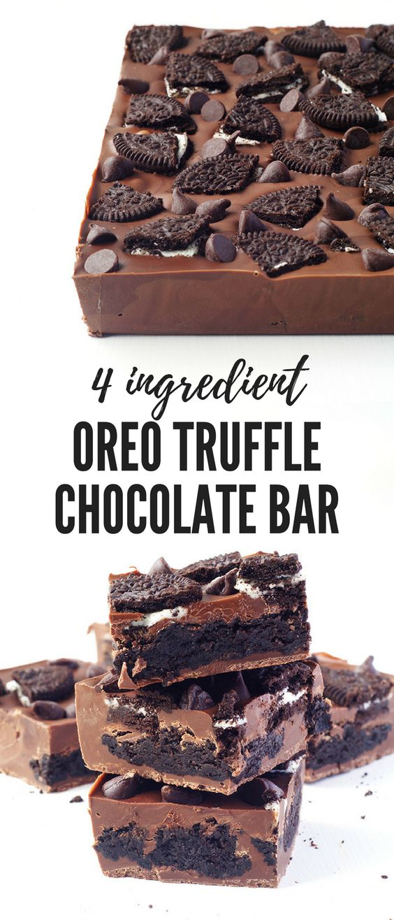 OREO TRUFFLE CHOCOLATE BAR #Oreo #Truffle #Chocolate #Bar #Choco #Cookies #Cake