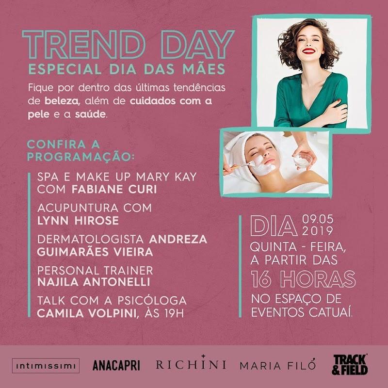 Trend Day traz conteúdo de saúde e beleza em comemoração ao Dia das Mães