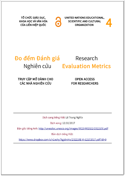 'Đo đếm đánh giá nghiên cứu' - bản dịch sang tiếng Việt