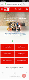 Tampilan Website Home Credit