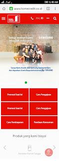Tampilan Website Home Credit