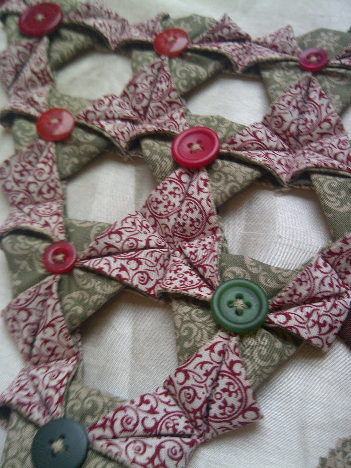 Craft To Make With Folded Fabric Triangles