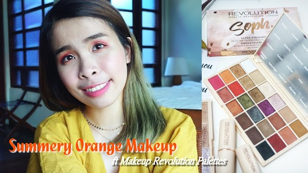 Summery Orange Makeup Face of the Month