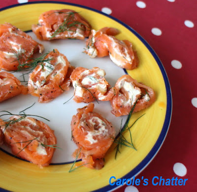 Carole's Chatter: Salmon Bites - Messy Finger Food