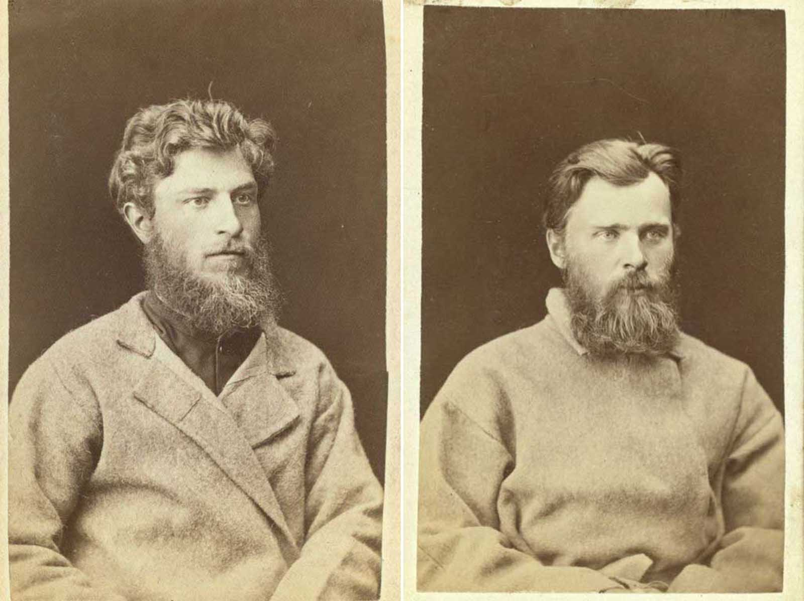 (Left) Scheffer, a prisoner at the mines of Kara. (Right) Yonof.
