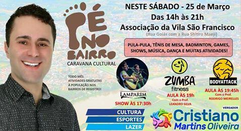 """Caravana Cultural """"Pé no Bairro"""" acontecerá neste sábado na Vila São Francisco em Registro-SP"""