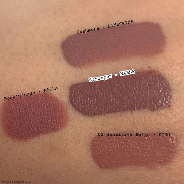 Nabla, Dreamy Matte, Liquid Lipstick, Stronger, swatch