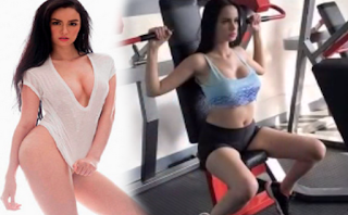 Kim Domingo working out video