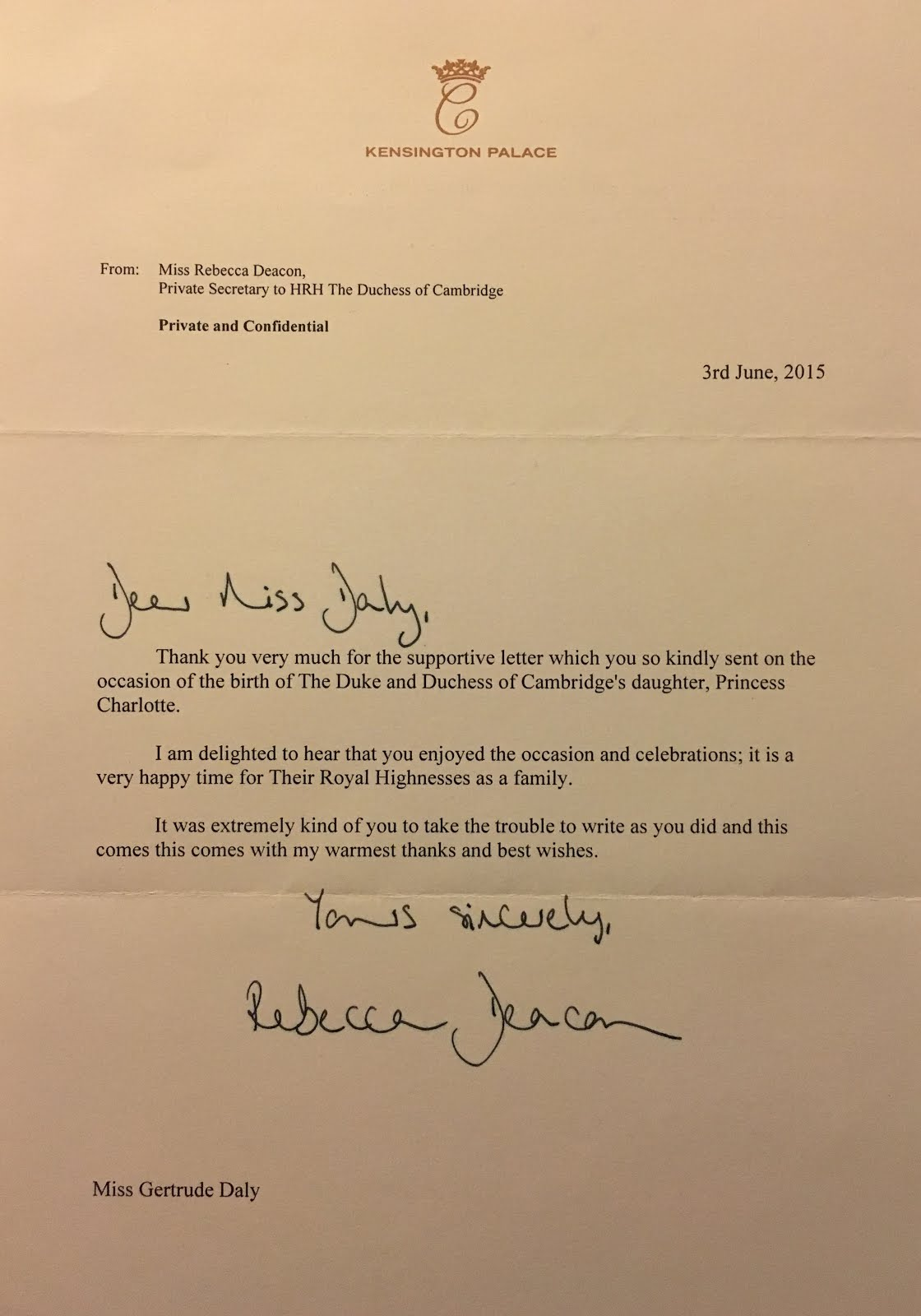 gert u0026 39 s royals  letter from rebecca deacon