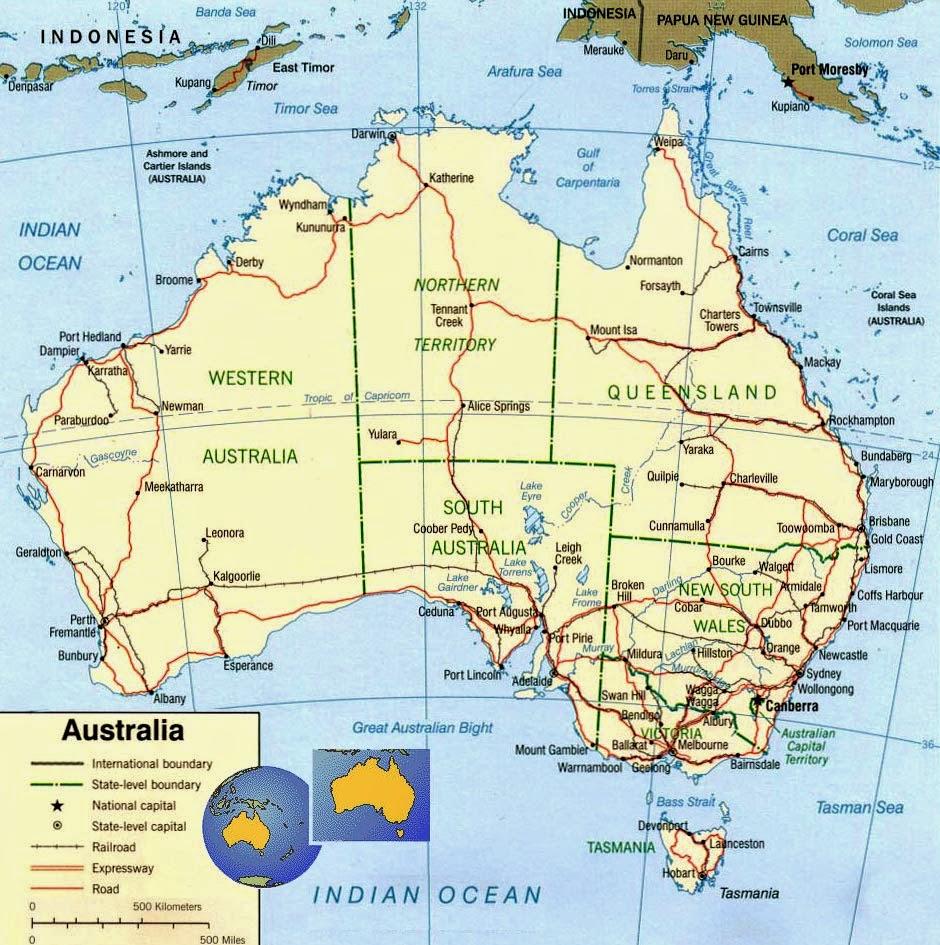 Austrália | Mapas Geográficos da Austrália