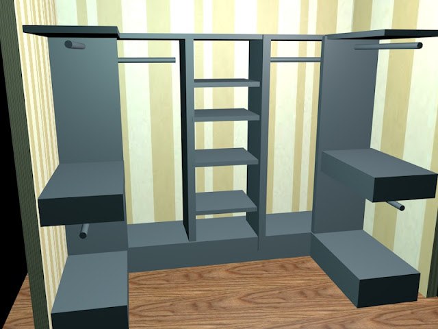 diseño de un vestidor www.lolatorgadecoracion.es