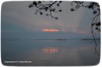 Бухтарма, закат, море.