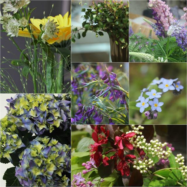 #kukkailottelua, valokuvakollaasi, kukkia