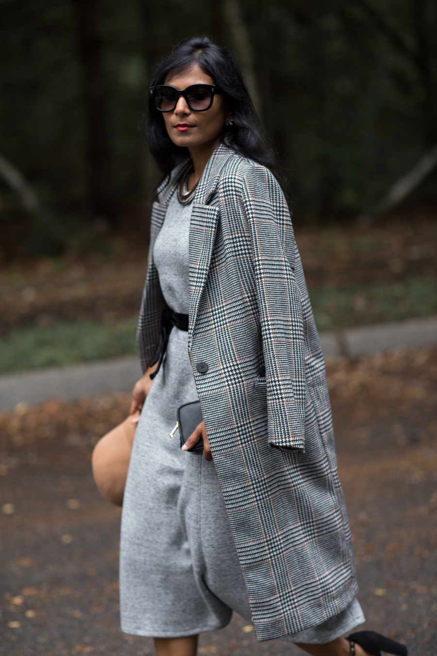 work style, work dress, j.crew, preppy, classic style, holiday style for work, petite fashion, petite blogger, new england, fall fashion, neutrals, checked coat, menswear trend
