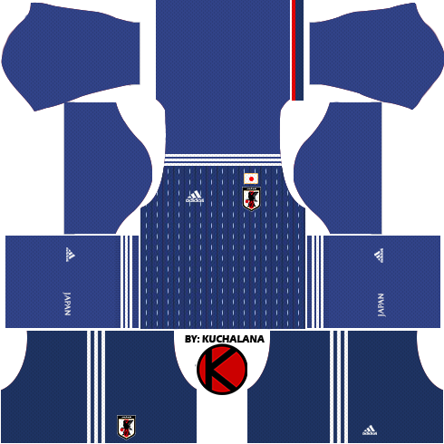 Japan 2018 World Cup Kits -  Dream League Soccer Kits