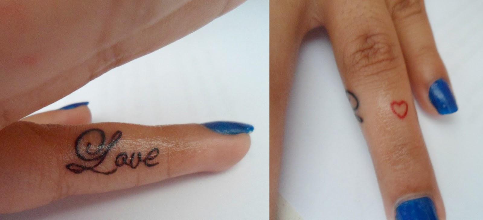 é Fácil Ser Bonita Tatuagens No Dedo