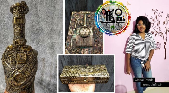 Yga Viswanathan's Treasure box craft and bottle art