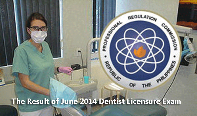 The Result of June 2014 Dentist Licensure Exam