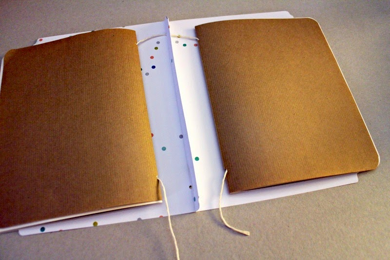 Bindetechnik zum DIY Sketchbook Tutorial aus Memory Files von Martina für www.danipeuss.de