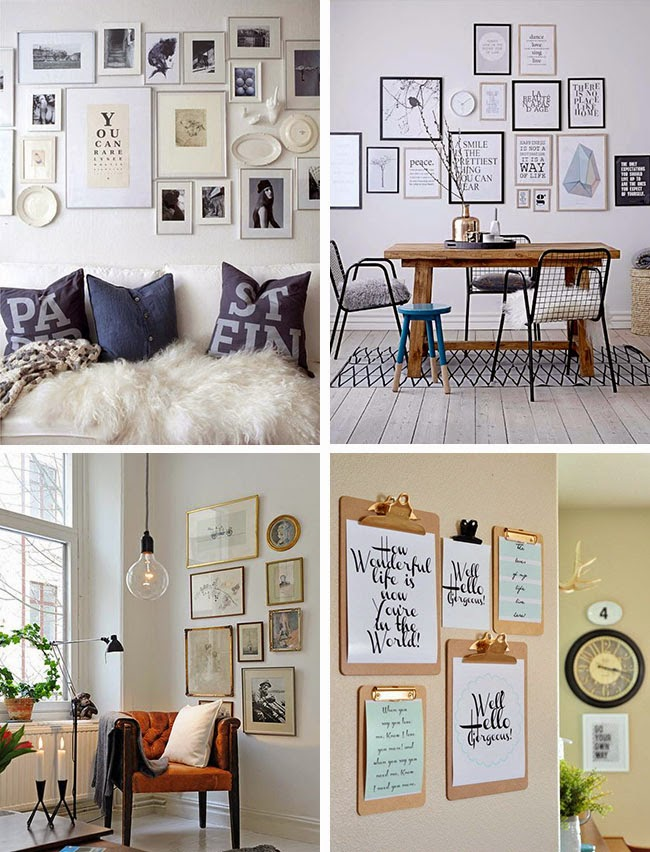 Decorare una parete con i quadri home shabby home for Decorare stanza foto