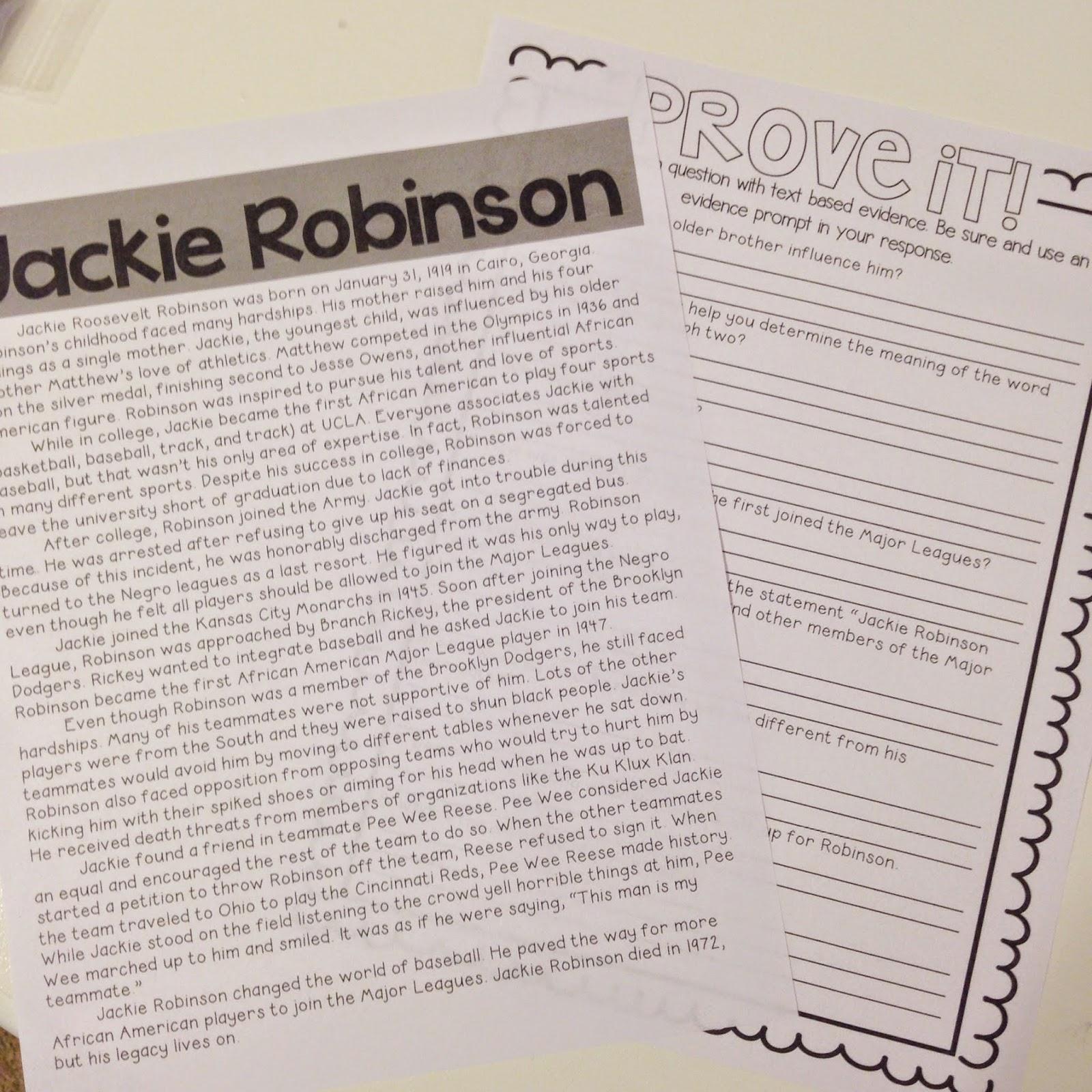 Jackie Robinson Close Read