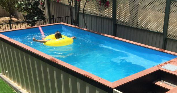 Shipping container swimming pool cool sh t you can buy for Buy swimming pool