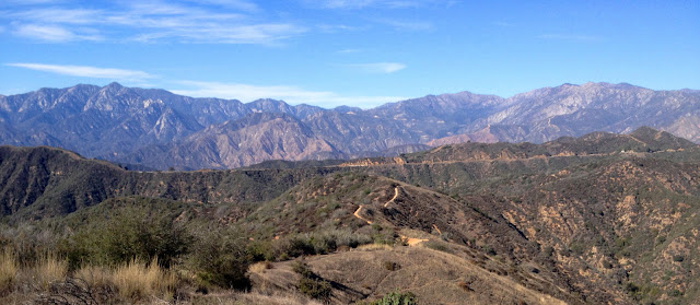 View north from the north ridge of Summit 3397, Angeles National Forest