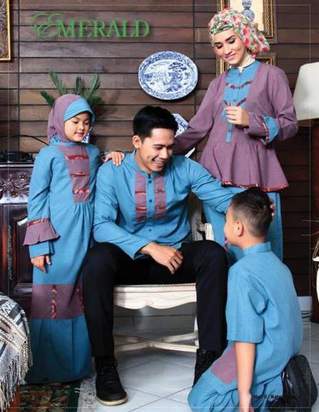 Model Baju Muslim Pesta Keluarga Terbaru
