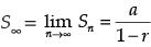 jumlah s pada deret geometri tak hingga