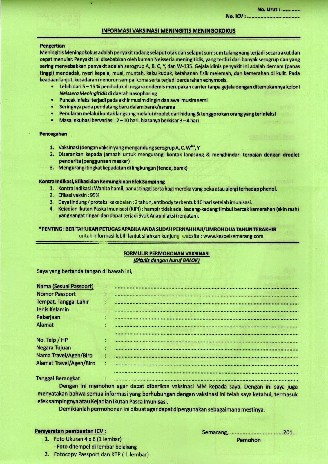 Informasi Penting Vaksinasi Meningitis Di Indonesia