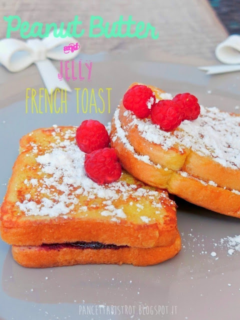 french toast al burro di arachidi
