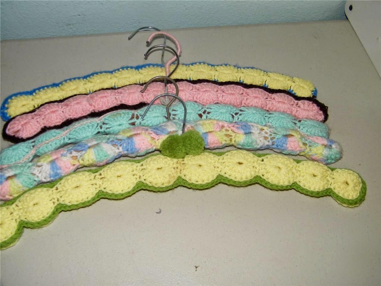 crochet vintage hangers