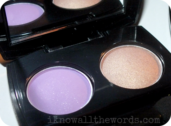 Avon Fiji Paradise True Colour Eyeshadow Duo 'Luscious Orchid' Luxe Lavender and Metal Taupe