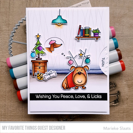 Handmade card by Marieke Slaats featuring products from My Favorite Things #mftstamps