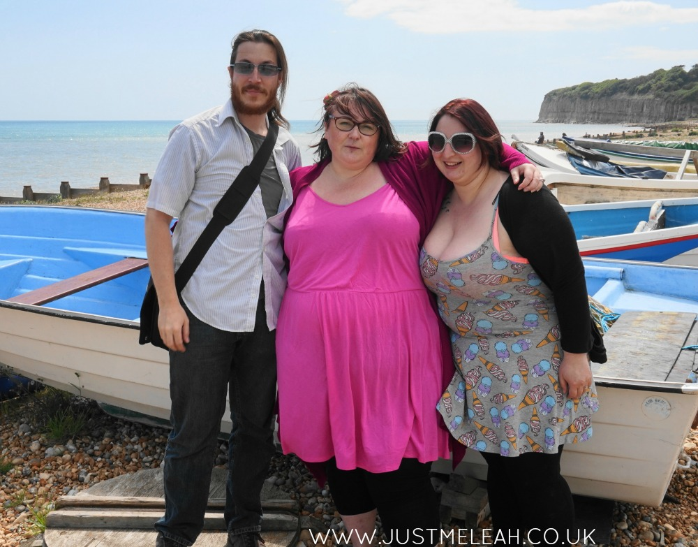 H&M+ pink plus size jersey dress
