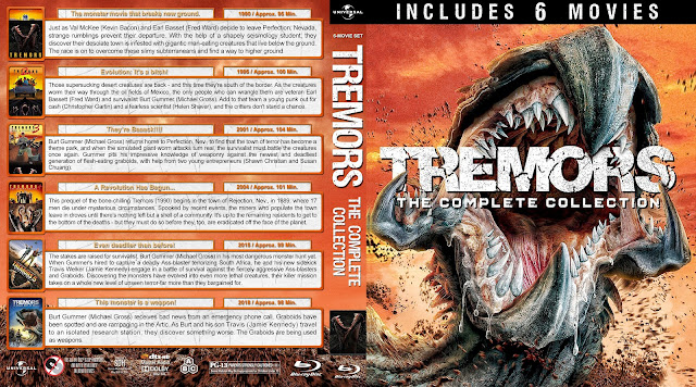 Tremors: The Complete Collection Bluray Cover
