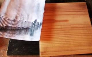 Langkah Pemindahan Gambar dari Kertas pada Kayu dengan Lem dan Air