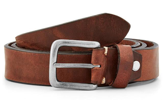 Cinturón de cuero marrón cálido Trendhim