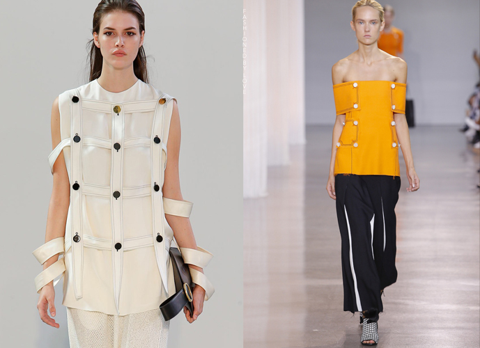 Fashion copycats Celine Spring/Summer 2015 VS Edun Spring/Summer 2016 via www.fashionedbylove.co.uk