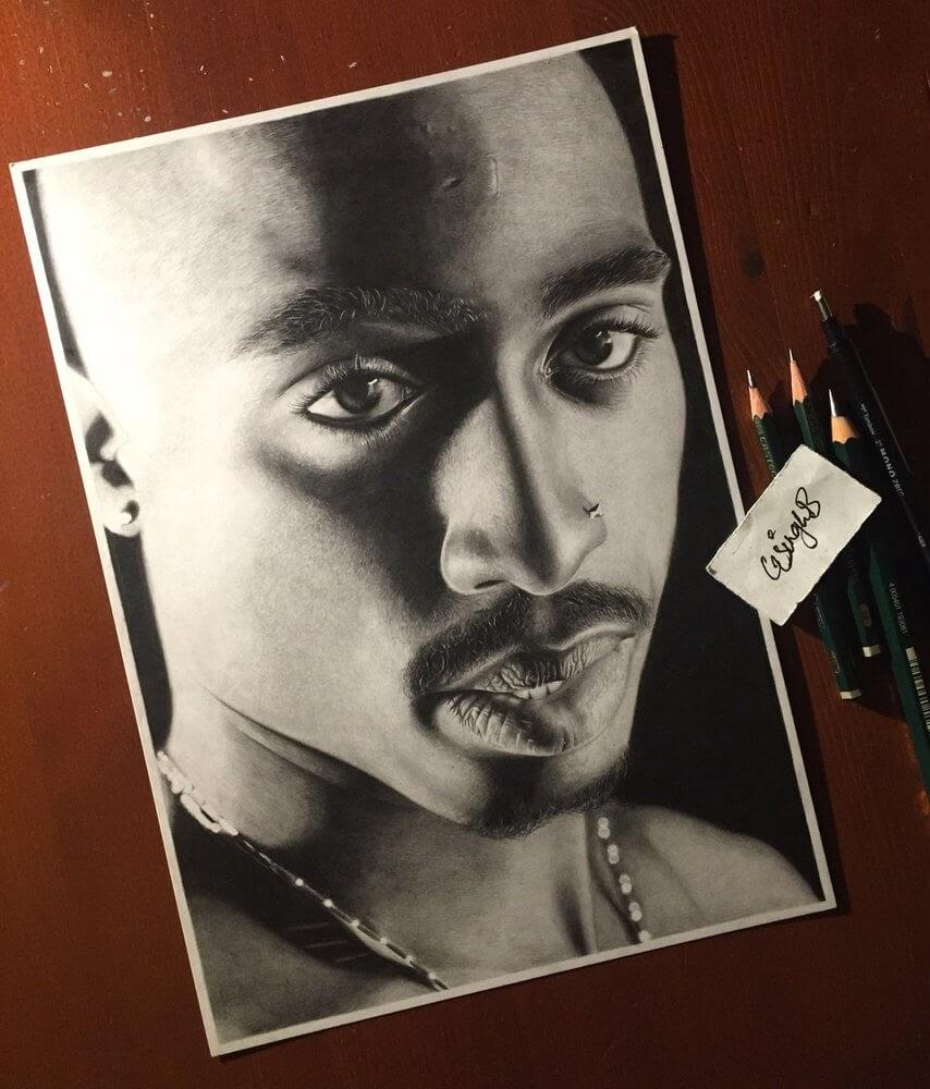 01-2Pac-Gurekbal-Bhachu-Realistic-Celebrity-Portraits-Drawings