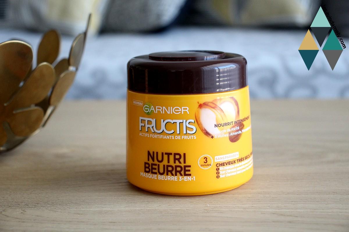 masque nourrissant 3 en 1 fructis nutri beurre