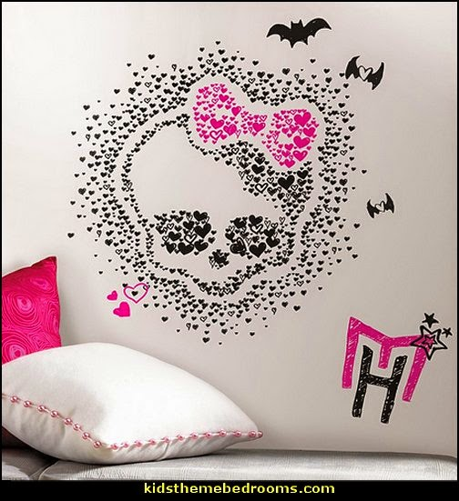 Monster High Heart Skullette Wall Decals